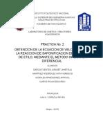 Practica No. 2 Cinetica y Reactores