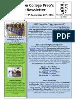 Newsletter - Week 6
