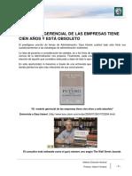 Lectura 3 - El Modelo Gerencial de Las Empresas Tiene Cien Años y Está Obsoleto