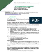 Diseño de Filtros Analogicos Con Matlab