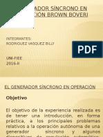 El Generador Síncrono en Operación