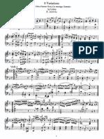 Nuty - Mozart - 8 Variations, K 352