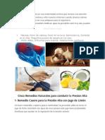Medicamentos Naturales Para La Hipertension