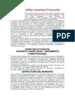 El Poder Público Municipal (VENEZUELA)