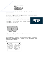 Uso de Los Diagramas de Venn Para Cálculo de Probabilidades
