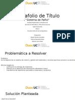 Estructura Presentación-Portafolio de Título Analista