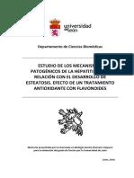 Estudio de Los Mecanismos Patogénicos de La Hepatitis C y Su Relación Con El Desarrollo de Esteatosis (TESIS)