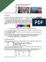 2016 PADRÃO 1 Fundamentos Química