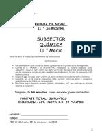 Prueba de Nivelquímica II