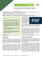 In Vitro Comparison of Microhardness of Bulk Fill Flowable Composites