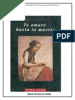 Te Amaré Hasta La Muerte, Novela Breve