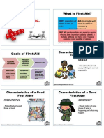 First Aid Handouts - refresher