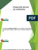 Técnica de Estimación Delphi (Opinión de Expertos