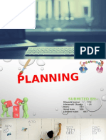 Planning & types of planning