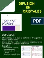 DIFUSIÓN en Cristales