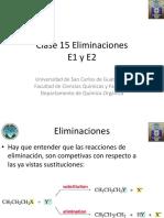 15 Reacciones de Eliminación E1 y E2