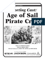 GURPS 4e - Supporting Cast - Age of Sail Pirate Crew