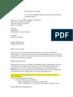Elvira Frias Aguila Historia Clinica Endocrinologia