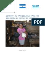 Estudio de Factabilidad Para Un Programa de Biogas Nicaragua 2010