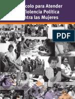 Protocolo para Atender la Violencia Política Contra las Mujeres