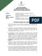 Reglamento Torneo Futbol Sala Fac. Minas 2016-2