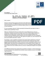 Notice - Standardized Sublease Agreement