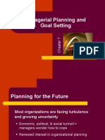 Managerial Planning & Goal Setting