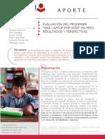 BID. - Evaluacion Del Programa Una Laptop Por Niñó en Peru, Resultados y Perspectivas