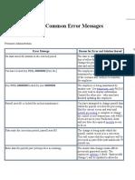 SAP HR Common Error Messages