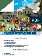 politicasEducativas2008-2012
