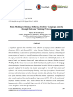 From Shaking to Shining- Reducing Students Language Anxiety Through Outcome Thinking Protocol