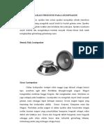 Aplikasi Frekuensi Pada Loudspeaker