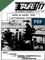 Jeune Taupe 17 Octobre-novembre 1977