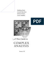 The first course of complex analysis