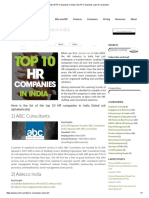 Top 10 HR Companies in India