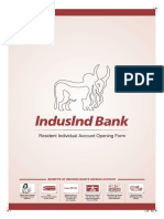 New AOF - Individual Client- IndusInd Bank