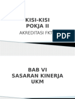 Kisi-kisi Akreditasi Pusk Pokja II