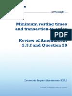 12 1064 Eia2 Minimum Resting Times and Transaction Order Ratios