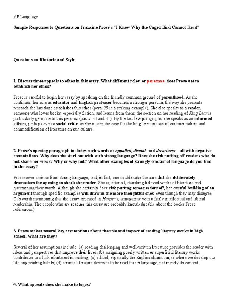 prose essay example - Prose Essay Examples