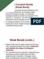 BCH 201 4 Non-Covalent Bonds