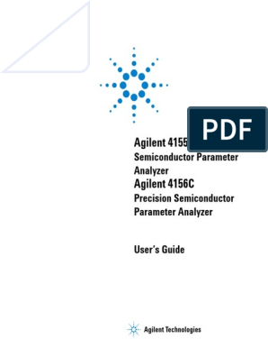 4155C 4156C Semiconductor Parameter Analyzer User's Guide