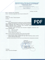Contoh Surat Izin International Office ITS