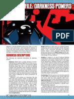 Mutants & Masterminds 3e - Power Profile - Darkness Powers