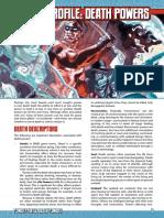 Mutants & Masterminds 3e - Power Profile - Death Powers