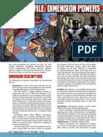 Mutants & Masterminds 3e - Power Profile - Dimension Powers