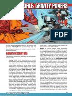 Mutants & Masterminds 3e - Power Profile - Gravity Powers