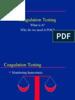 Coagulation Testing for POCC