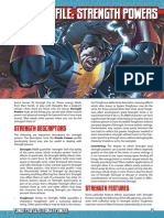 Mutants & Masterminds 3e - Power Profile - Strength Powers