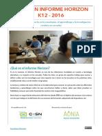 Informe Horizon K12 2016 - Resumen y traducción al español