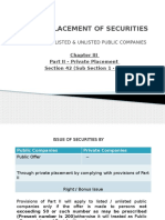 Private Placement of Securities - S 42